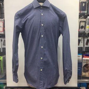 Z Zegna Dress Shirt Blue 40 Size